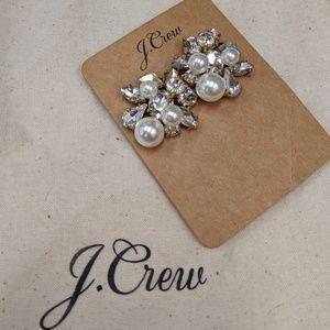 Cluster Pearl & Stone Earrings